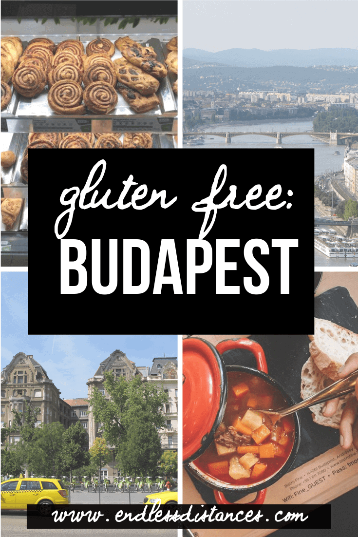 You won't go hungry in Hungary with this complete guide to gluten free Budapest. Includes five 100% gluten free restaurants, seven bakeries, and more! #glutenfreebudapest #budapestglutenfree #glutenfreetravel
