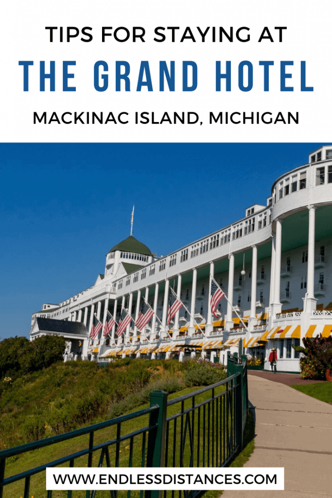 Absolutely everything you need to know for your visit to the Grand Hotel on Mackinac Island - one of the best hotels in the world! Michigan | USA | United States of America | The Grand Hotel | Travel Destinations | Honeymoon | Backpack | Backpacking | Vacation | Bucket List | Local Guide | Wanderlust #travel #honeymoon #vacation #backpacking #budgettravel #offthebeatenpath #bucketlist #wanderlust #Michigan #USA  #exploreMichigan #visitMichigan #seeMichigan #discoverMichigan #TravelMichigan