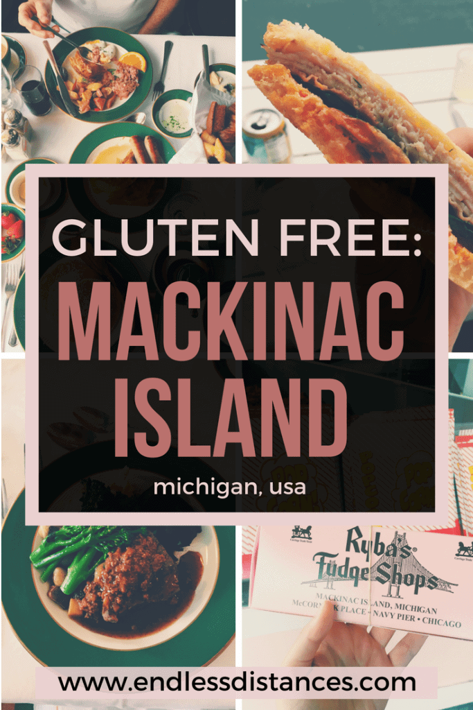 A complete guide to Mackinac Island's gluten free restaurants and where to stay! Gluten Friendly Hotels on Mackinac Island | Mackinac Island Restaurants | Mackinac Island Shops | Mackinac Island Bakeries | Michigan Travel Guide | Michigan Vacation | Gluten Free Destinations | Gluten Free Travel | USA Travel | United States of America | Destinations in Michigan #michigan #usa #unitedstates #america #travel #glutenfree
