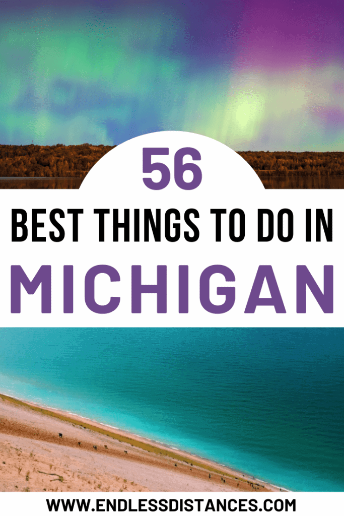 This Michigan bucket list, written by a Michigander, has 55+ things to do in Michigan | USA | United States of America | Travel Destinations | Backpack | Backpacking | Vacation | Bucket List | Budget | Off the Beaten Path | Local Guide | Wanderlust #travel #vacation #backpacking #budgettravel #offthebeatenpath #bucketlist #wanderlust #Michigan #USA #America #UnitedStates #exploreMichigan #visitMichigan #seeMichigan #discoverMichigan #TravelMichigan