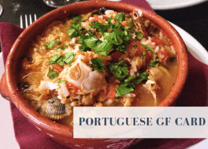 A translation card for gluten free Portugal travelers.