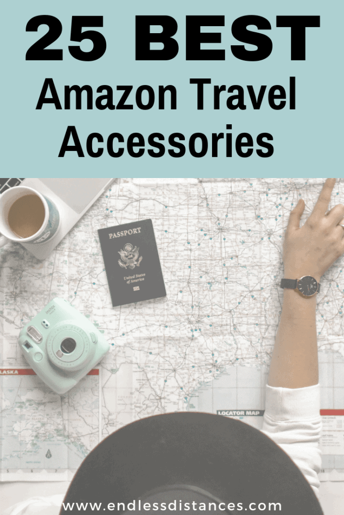 These 25 Amazon travel accessories will change the way you travel. You'll love these items that you didn't even know you needed! #amazontravel #amazontravelaccessories #amazontravelitems #amazonprimeday