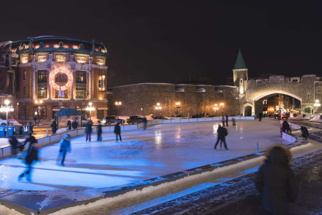 Skating at the place D'Youville.