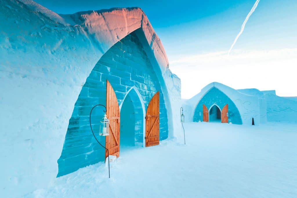 One of the best things to do in Quebec City in winter? Sleep in at the Ice Hotel!