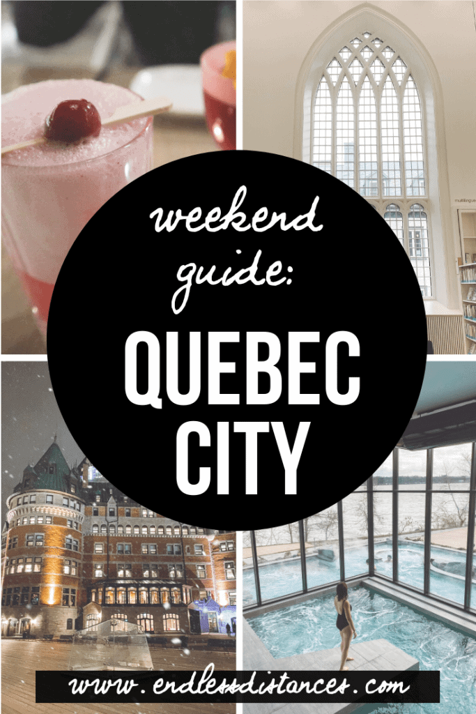 Quebec City in winter is cold, as in VERY cold. But it's also a winter fairyland! Here are 29 of the best things to do in Quebec City in winter. #quebeccity #thingstodoinquebeccity #thingstodoinwinterinquebeccity #quebec