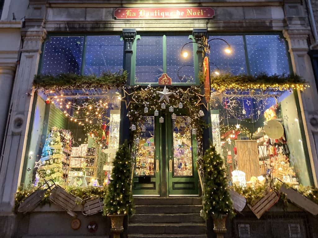 La Boutique de Noel is a perfect stop in Quebec City for some holiday shopping.