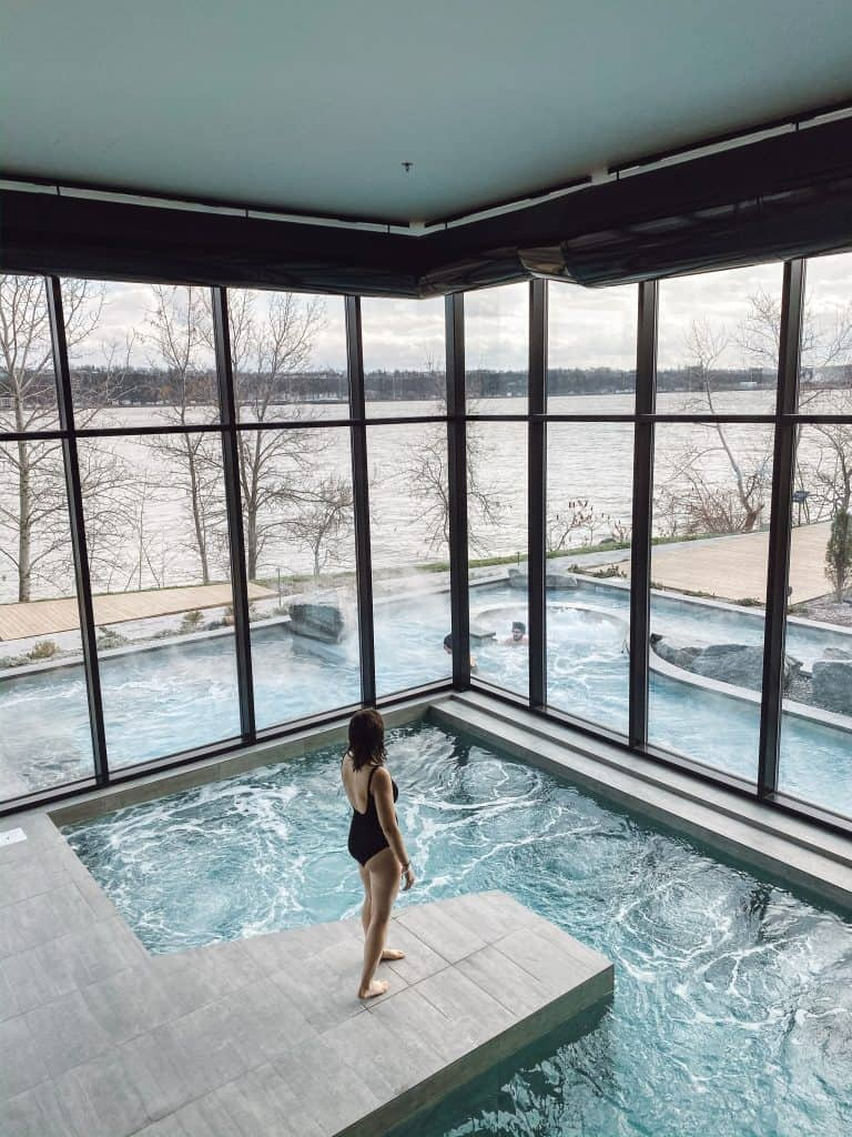 The Strom Spa Nordique is a perfect way to spend a winter's day in Quebec City.