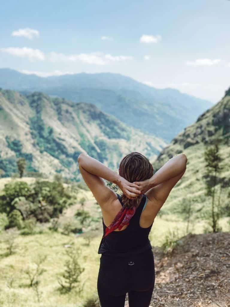 Ella Rock hike in Ella Sri Lanka.