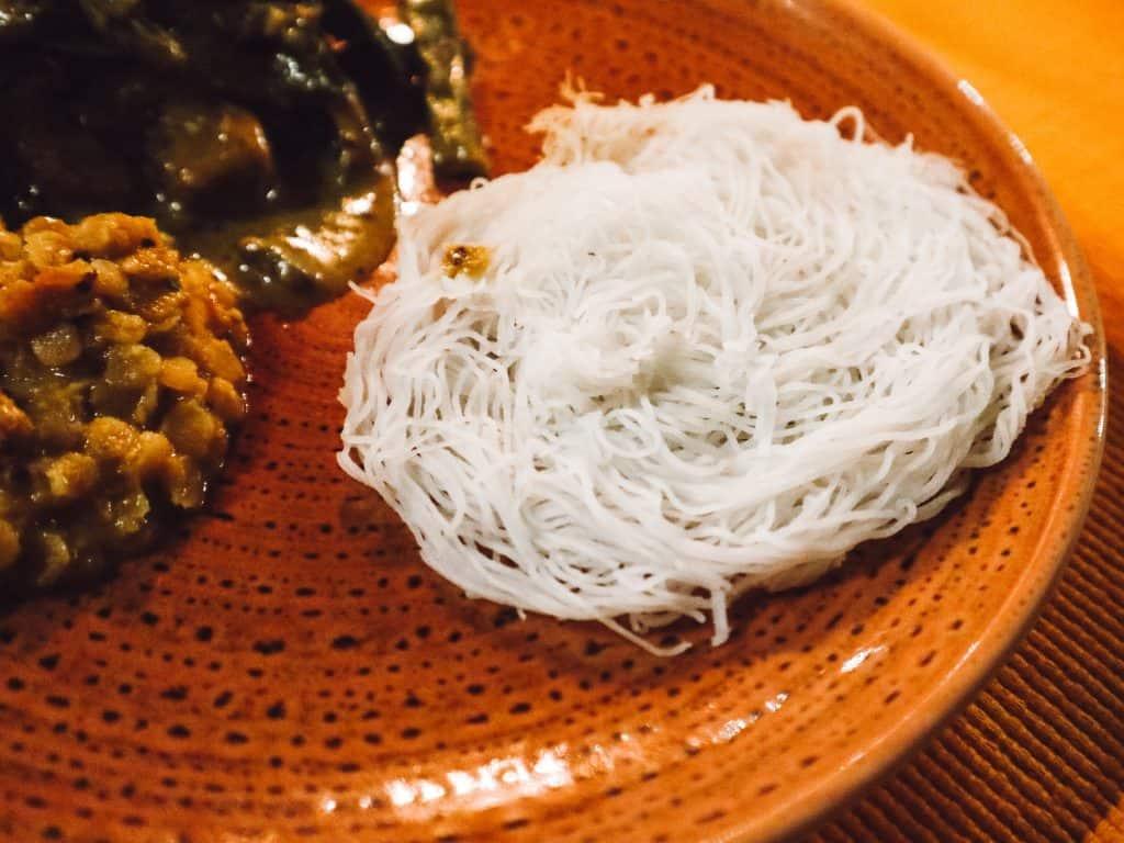Sri Lankan string hoppers.