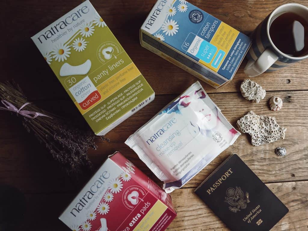 Travel with Endometriosis is possible, but challenging. Here are nine tips to manage your pain and symptoms while on the road. #travelwithendometriosis #travelingwithendometriosis #endometriosis #endometriosisawareness #natracare #veganperiodproducts