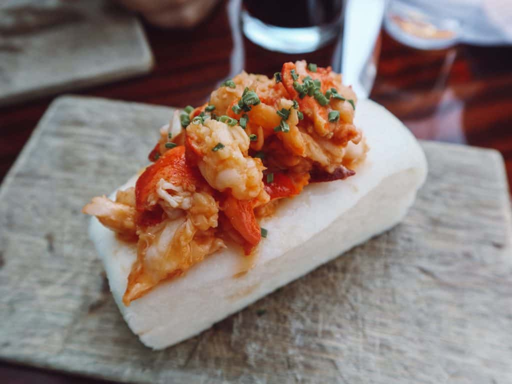 Eventide Oyster Company's gluten free lobster roll