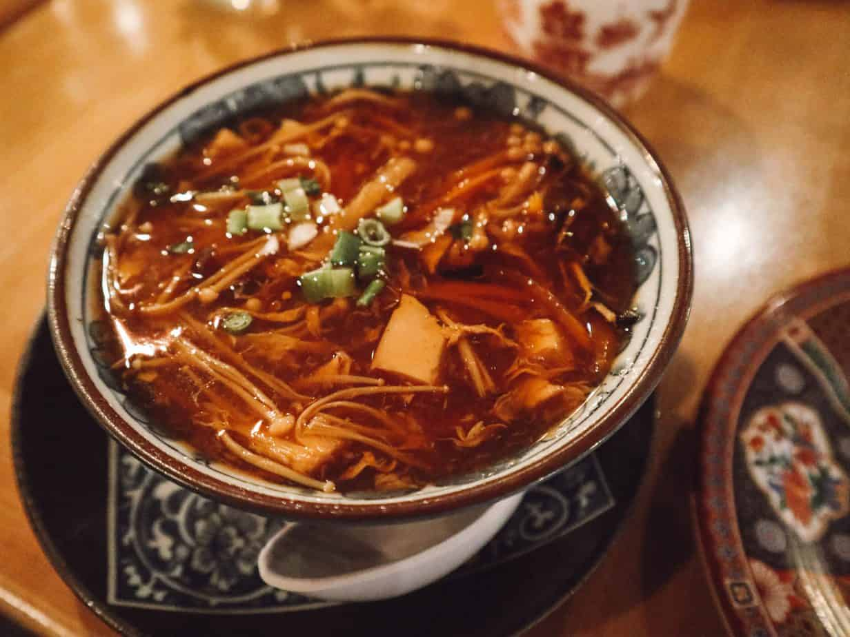 Gluten free hot and sour soup