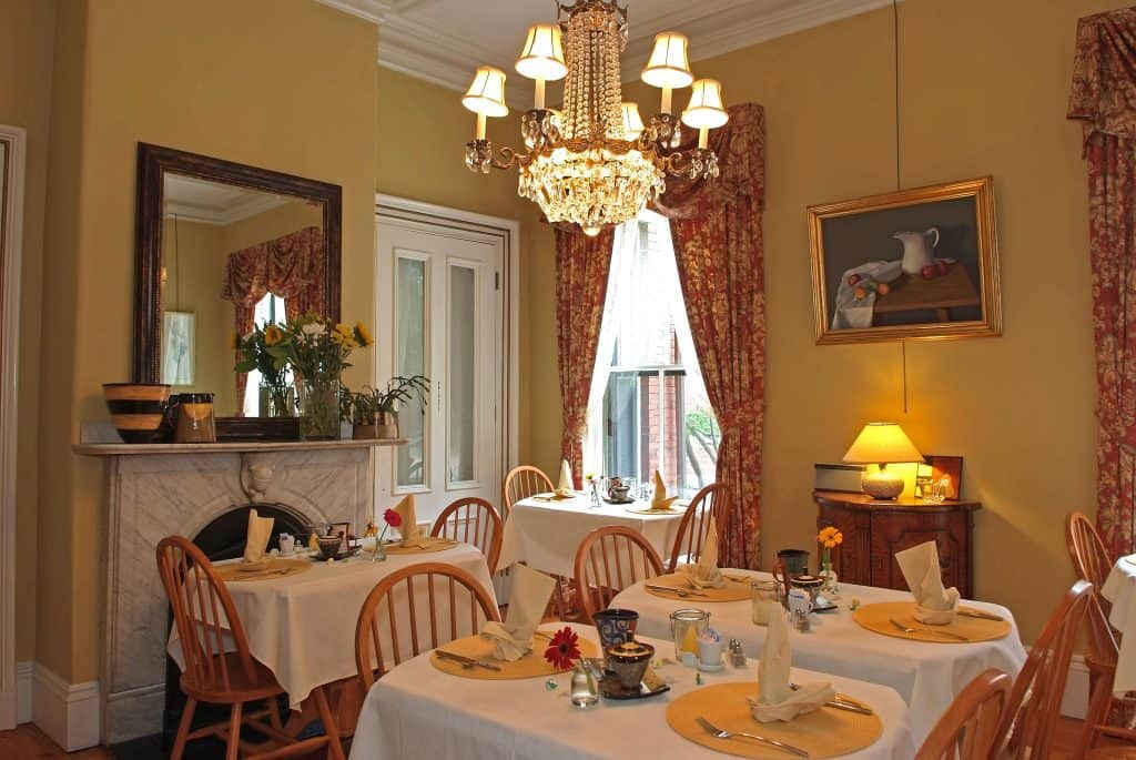 The dining room at the Inn on Carleton