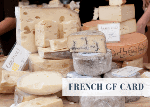French gluten free travel card