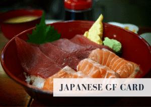 Japanese gluten free card