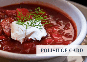 Polish gluten free travel card