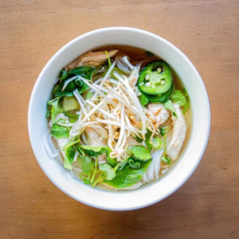 The Good Bowl in Traverse City serves Vietnamese cuisine including many gluten free options like this pho.