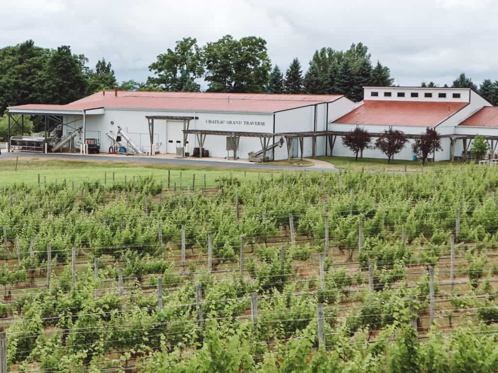 Chateau Grand Traverse winery on Old Mission Peninsula