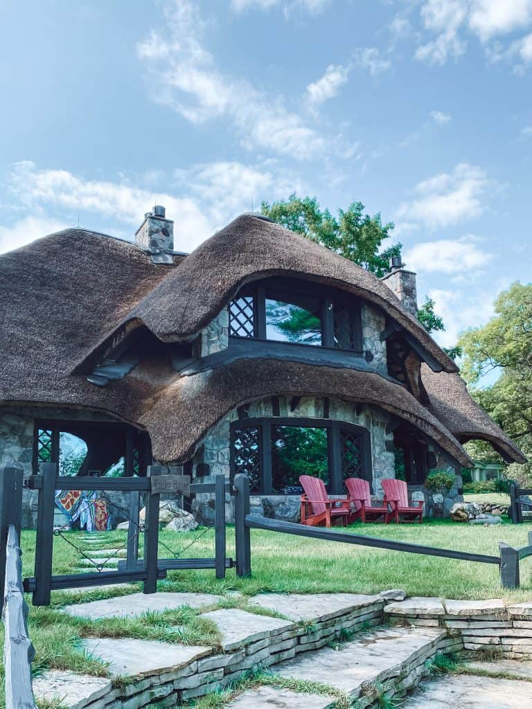 Thatch House is one of the 28 Charlevoix Mushroom Houses