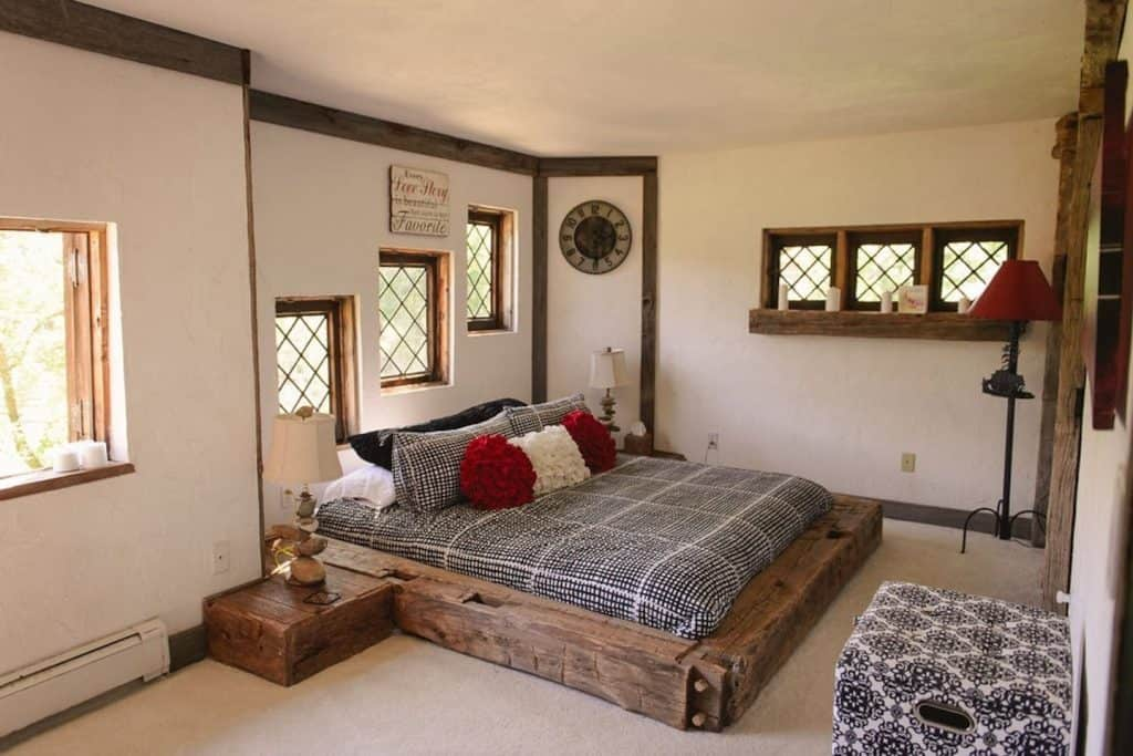 The honeymoon suite at Applecore Cottage, built by Virginia Young, in Charlevoix Michigan