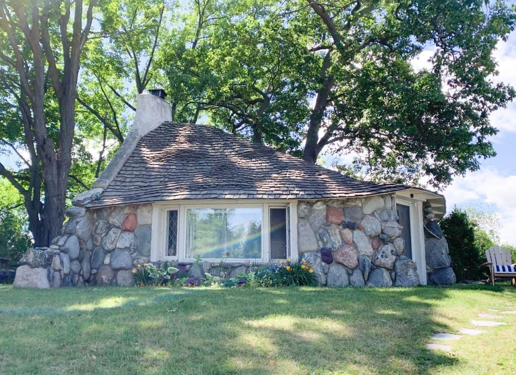 The adorable Half House, built by Earl Young. One of the original 28 mushroom houses in Charlevoix.