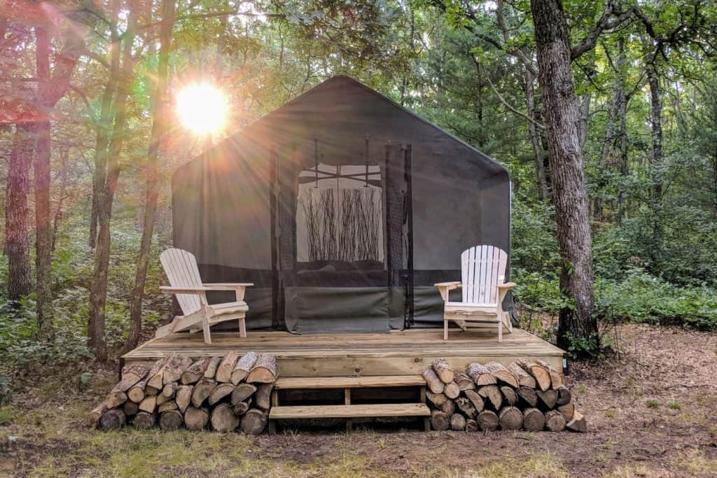 Michigan glamping in the North