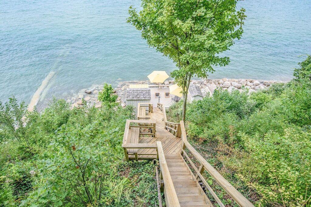 romantic cabins in michigan lake mi