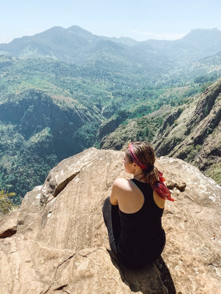 Ella Rock hike during a 1 week in Sri Lanka itinerary