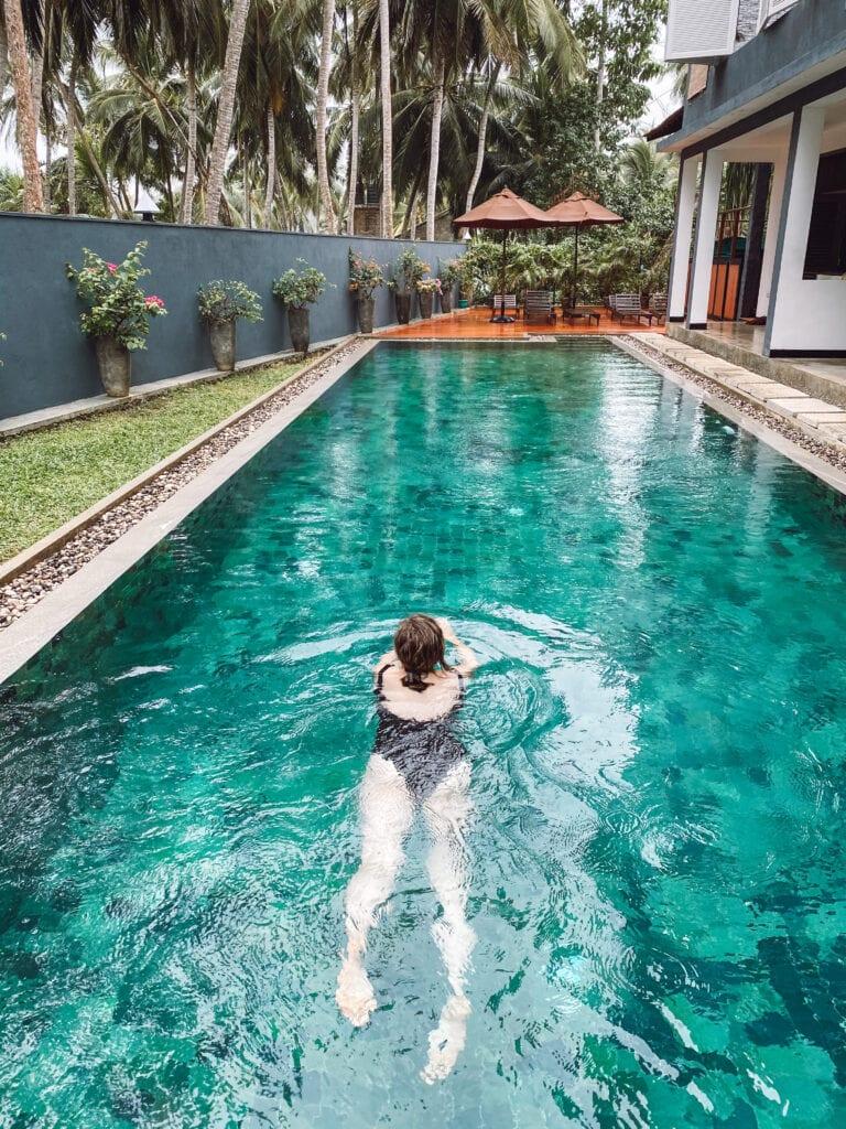 Swimming pool at Jasper House in Sri Lanka 1 week in Sri Lanka itinerary