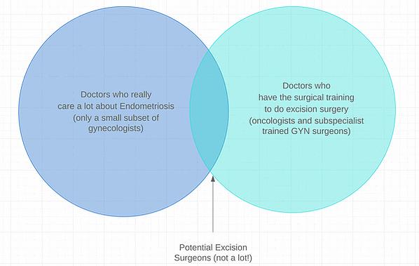 excision surgeons for endometriosis venn diagram