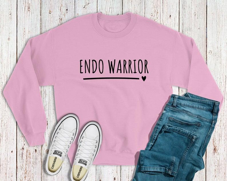 endo warrior sweatshirt in pink