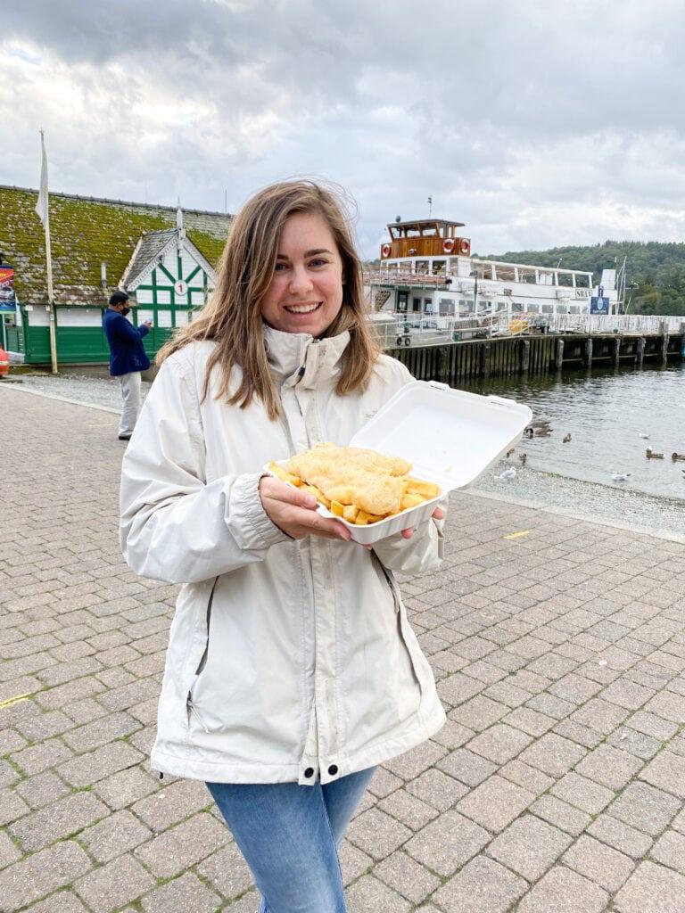 gluten free lake district vinegar jones fish and chips in windermere