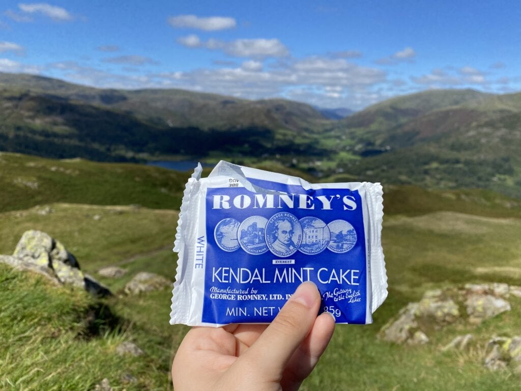 gluten free kendal mint cake in the lake district