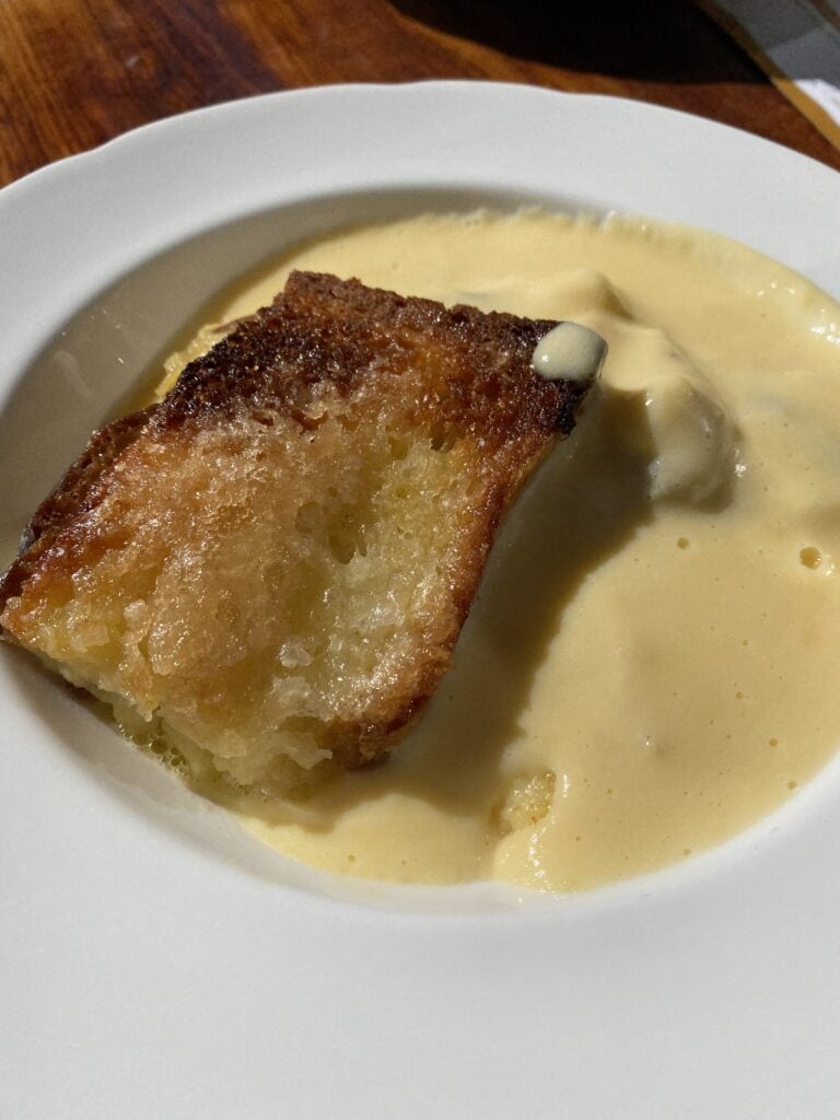 gluten free bread pudding in grasmere lake district