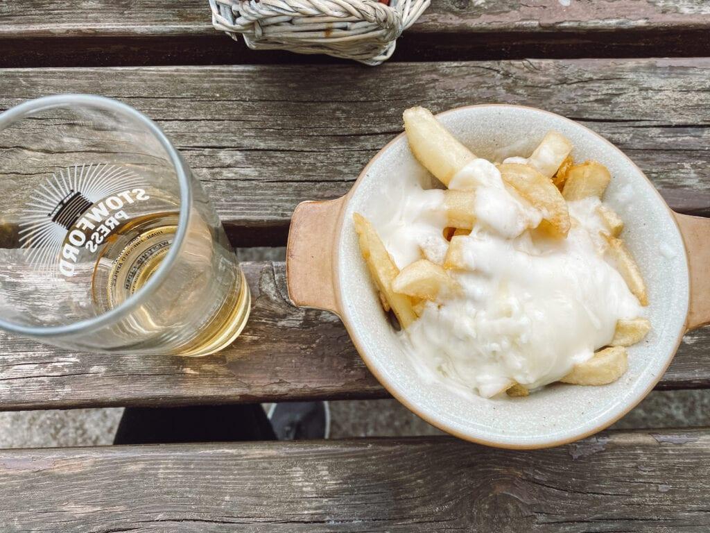 gluten free peak district chips at ye olde cheshire cheese inn