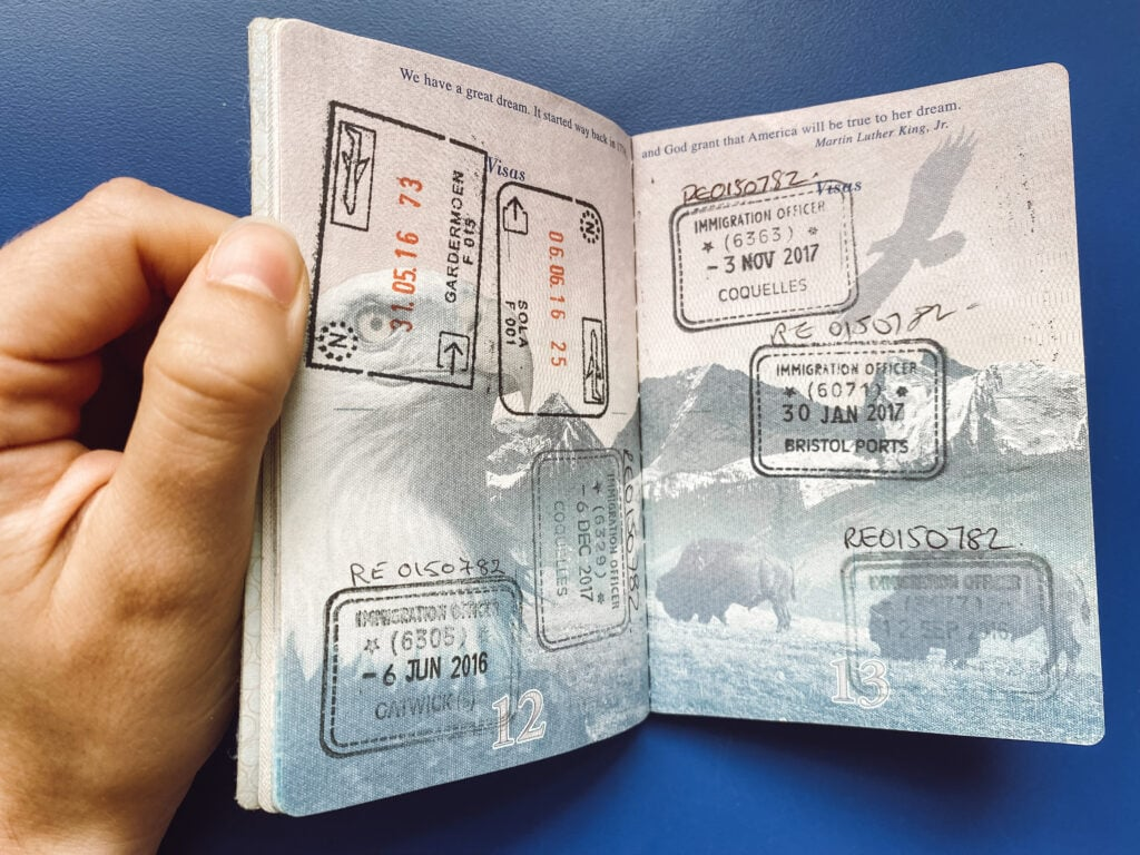 Saying goodbye to my passport, and a decade of travel.